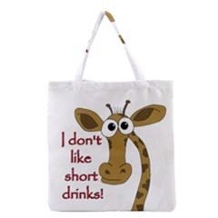 Giraffe Joke Grocery Tote Bag