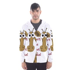 Giraffe Joke Hooded Wind Breaker (men)