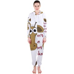 Giraffe Joke Hooded Jumpsuit (ladies)