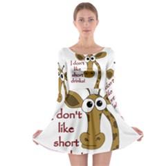 Giraffe Joke Long Sleeve Skater Dress