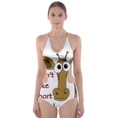 Giraffe Joke Cut Out One Piece Swimsuit