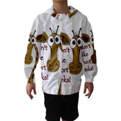 Giraffe Joke Hooded Wind Breaker (kids)