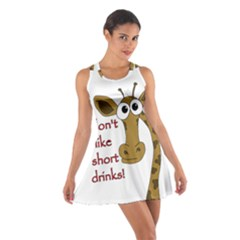 Giraffe Joke Cotton Racerback Dress