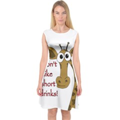 Giraffe Joke Capsleeve Midi Dress