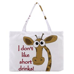 Giraffe joke Medium Zipper Tote Bag
