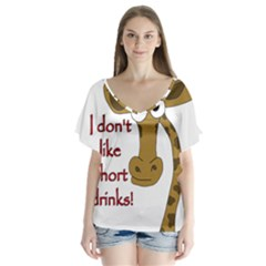 Giraffe Joke Flutter Sleeve Top