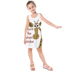 Giraffe joke Kids  Sleeveless Dress