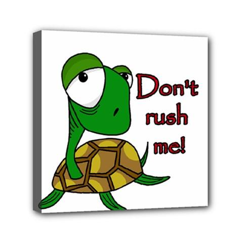 Turtle Joke Mini Canvas 6  X 6