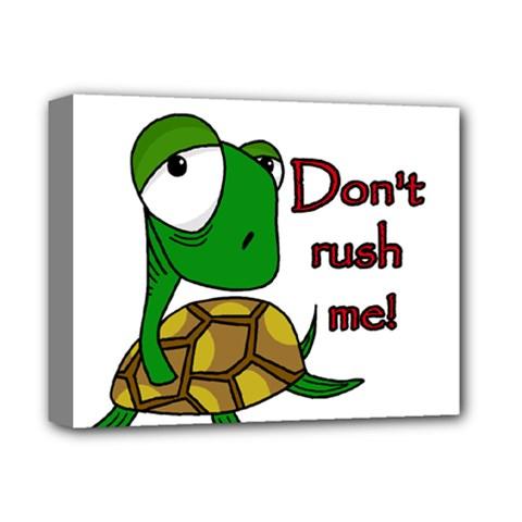 Turtle Joke Deluxe Canvas 14  X 11