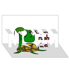 Turtle Joke Mom 3d Greeting Card (8x4)