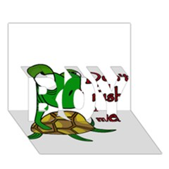 Turtle Joke Boy 3d Greeting Card (7x5)