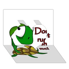 Turtle Joke Heart 3d Greeting Card (7x5)