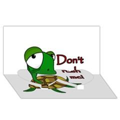 Turtle Joke Twin Heart Bottom 3d Greeting Card (8x4)