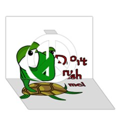 Turtle Joke Peace Sign 3d Greeting Card (7x5)