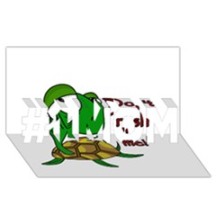 Turtle Joke #1 Mom 3d Greeting Cards (8x4)