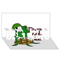 Turtle Joke Best Bro 3d Greeting Card (8x4)
