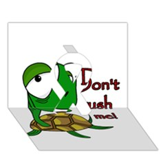 Turtle Joke Ribbon 3d Greeting Card (7x5)