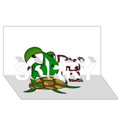 Turtle Joke Sorry 3d Greeting Card (8x4)