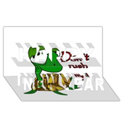 Turtle Joke Happy New Year 3d Greeting Card (8x4)
