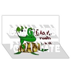 Turtle Joke Congrats Graduate 3d Greeting Card (8x4)