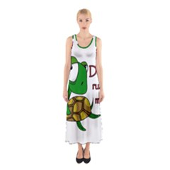 Turtle Joke Sleeveless Maxi Dress