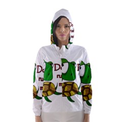 Turtle Joke Hooded Wind Breaker (women)