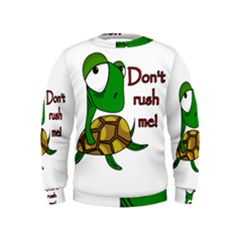 Turtle Joke Kids  Sweatshirt
