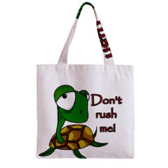 Turtle Joke Zipper Grocery Tote Bag