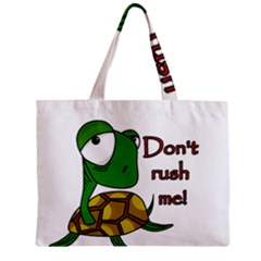 Turtle Joke Zipper Mini Tote Bag