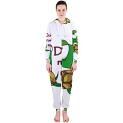 Turtle Joke Hooded Jumpsuit (ladies)