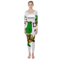 Turtle Joke Long Sleeve Catsuit