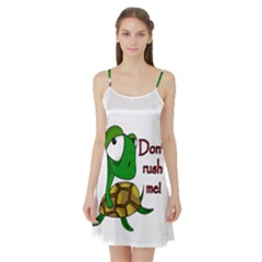 Turtle Joke Satin Night Slip