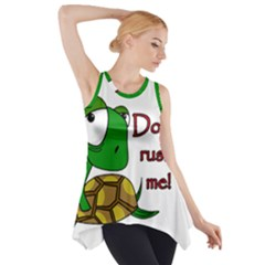 Turtle Joke Side Drop Tank Tunic