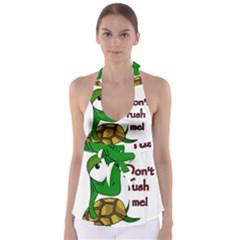 Turtle Joke Babydoll Tankini Top