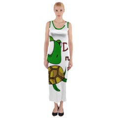 Turtle Joke Fitted Maxi Dress