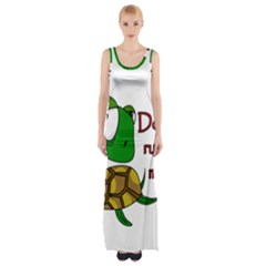 Turtle Joke Maxi Thigh Split Dress
