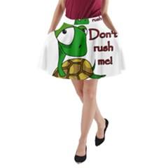 Turtle Joke A Line Pocket Skirt