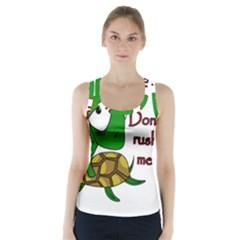 Turtle Joke Racer Back Sports Top