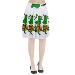 Turtle Joke Pleated Skirt