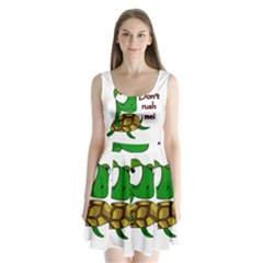 Turtle Joke Split Back Mini Dress