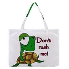 Turtle Joke Medium Zipper Tote Bag