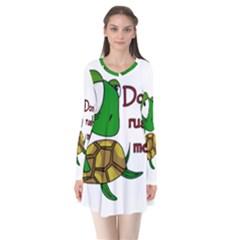 Turtle Joke Flare Dress
