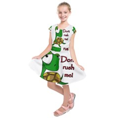 Turtle Joke Kids  Short Sleeve Dress