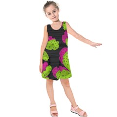 Decorative Leafs  Kids  Sleeveless Dress