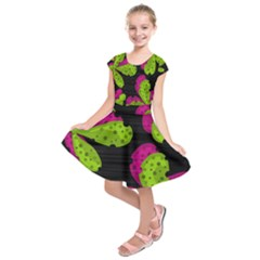 Decorative leafs  Kids  Short Sleeve Dress