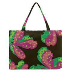Colorful leafs Medium Zipper Tote Bag