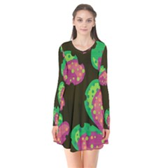 Colorful Leafs Flare Dress