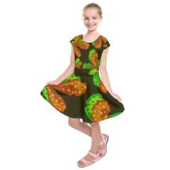 Autumn leafs Kids  Short Sleeve Dress