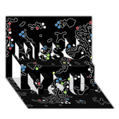 In my mind Miss You 3D Greeting Card (7x5)