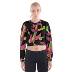 Moon tree Women s Cropped Sweatshirt
